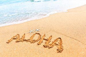Aloha Greeting From Beach of Hawaii